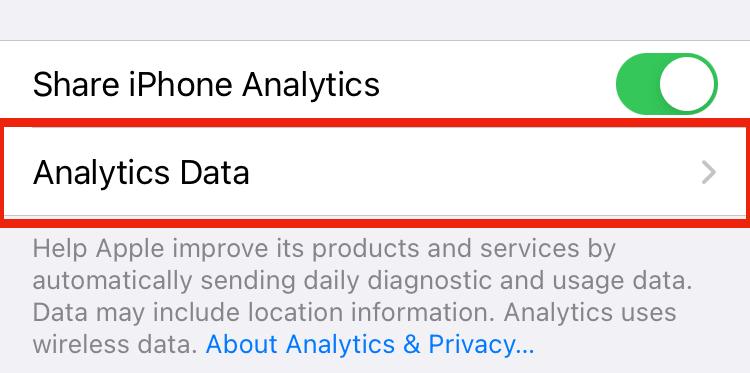 解析データ iphone